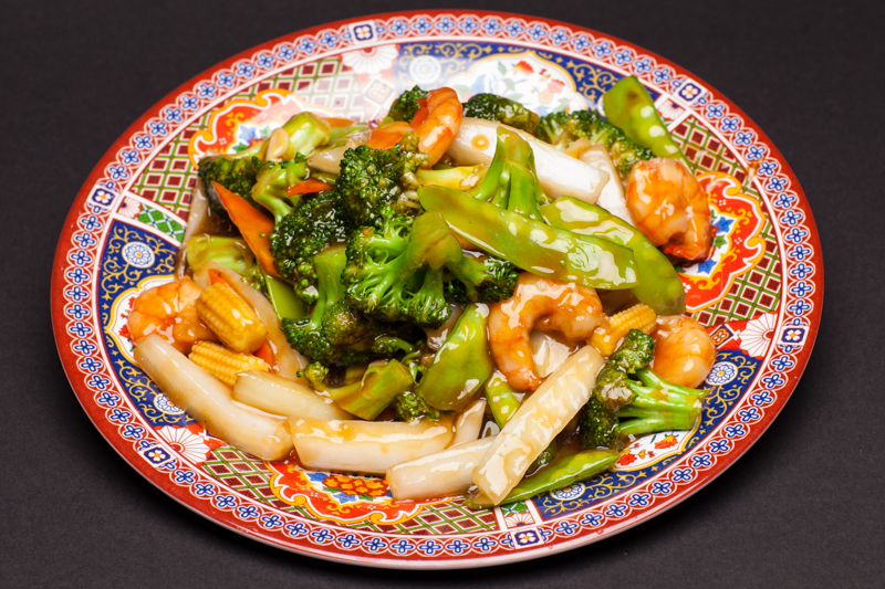Shrimp with Fresh Broccoli