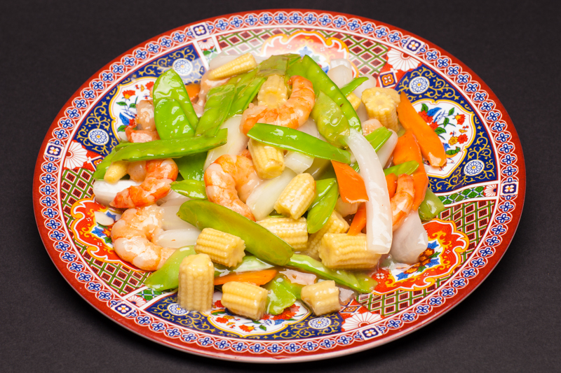 Snow Peas with Shrimp